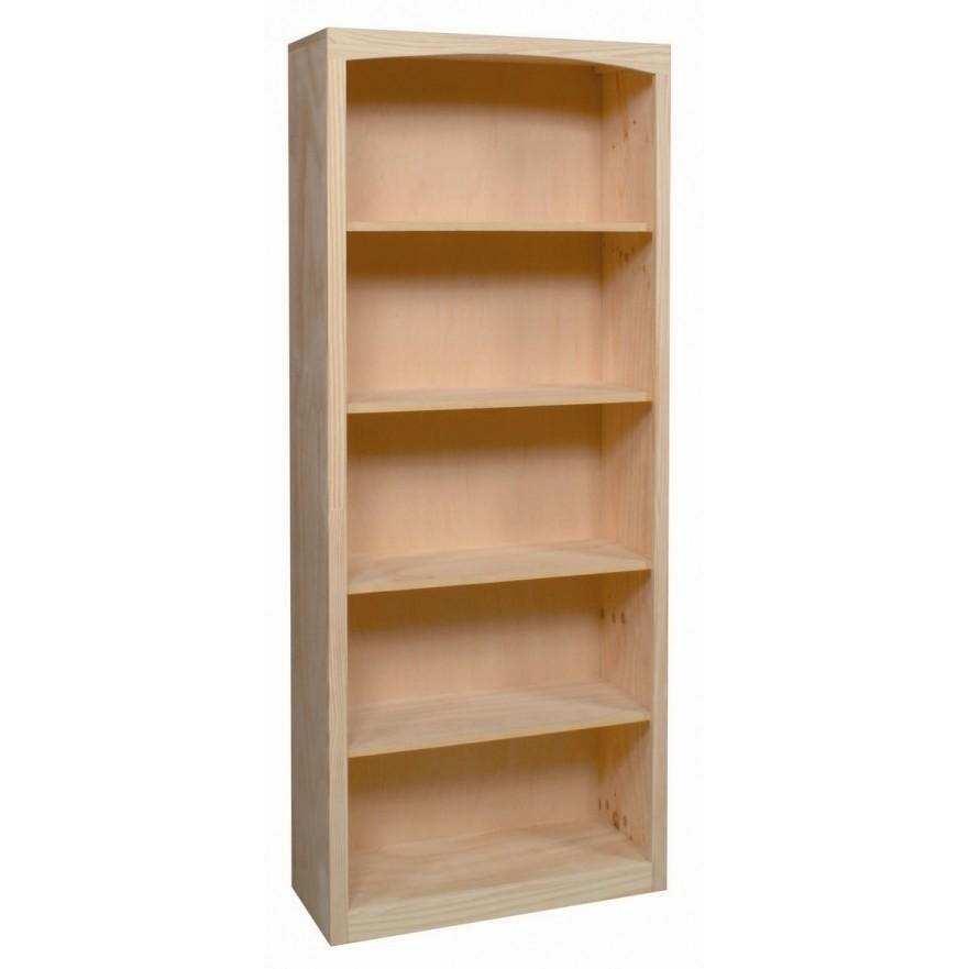 product pine x solid adjustable bookcase waxed deep